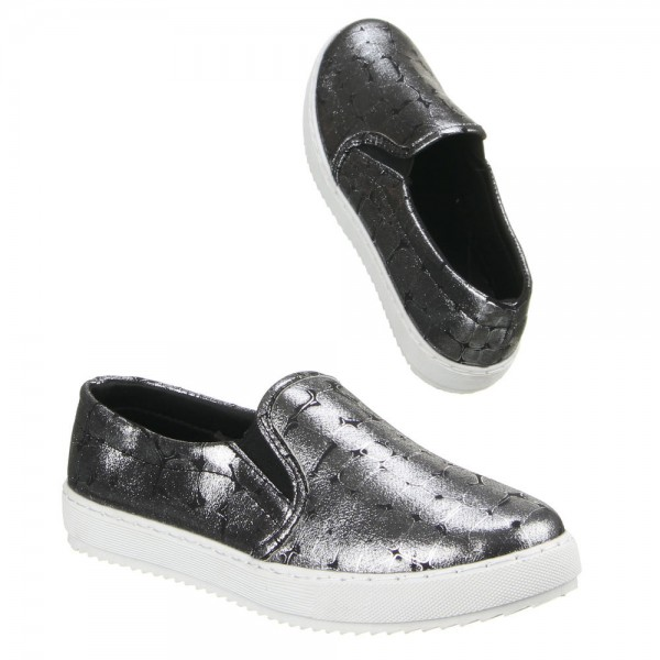Schwarze Metallic Slipper