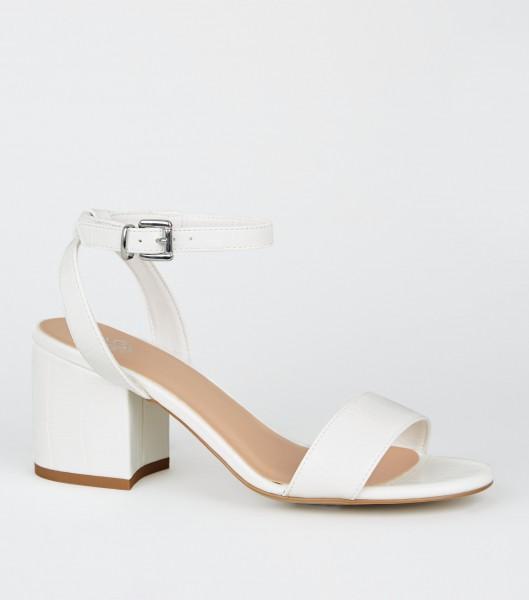 weisse Sandalen Sandaletten Brautschuhe Hochzeitsschuhe bridalshoes weddingshoes Gr. 33