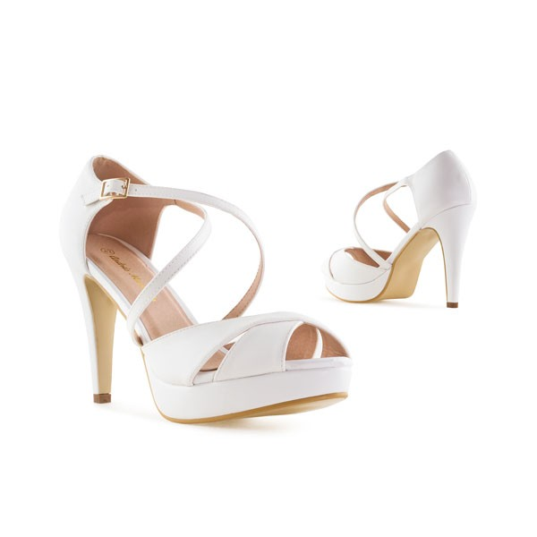 AM5336 Andres Machado Weiße High Heels Stilettos Sandalen Brautschuhe Bridalshoes Weddingsshoes Hochzeitsschuhe