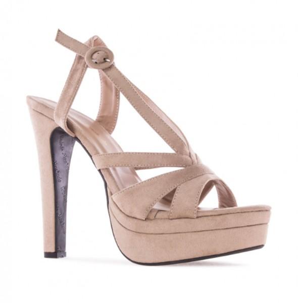 AM5158 Andres Machado Beige Nude Plateau High Heels Sandalen Stilettos Sandaletten Brautschuhe weddingsshoes hochzeitsschuhe bridalshoes