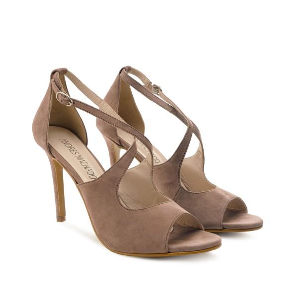 beige nude wildleder velourleder leder pumps high heels stilettos sandalen andres Machado diamond shoes