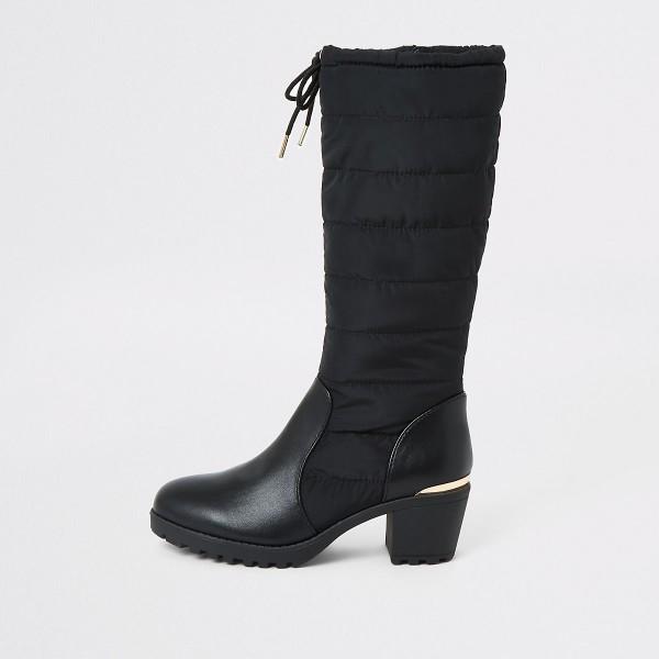 DS157 black-schwarz-stiefel-mit-blockabsatz-kunstleder-diamondshoes-untergrößen