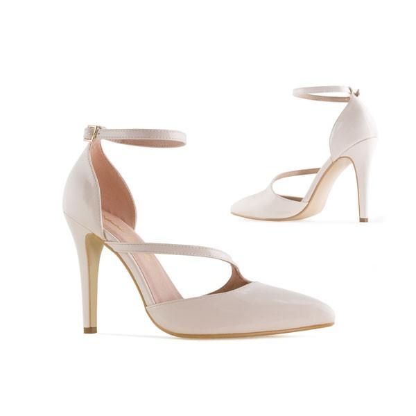 AM5312 Andres Machado Beige Nude Lack Pumps High Heels Brautschuhe Hochzeitsschuhe weddingshoes bridalshoes