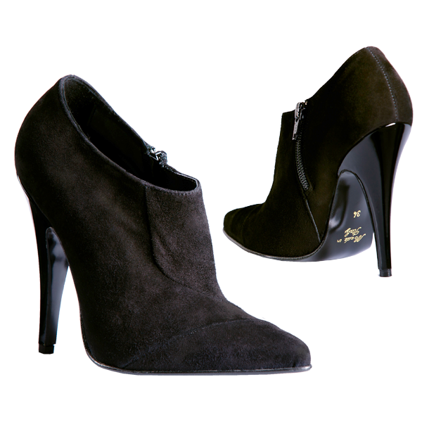 Schwarze Wildleder Ankle Boots
