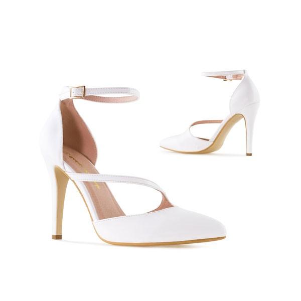 AM5312 Andres Machado Weiße Lack Pumps High Heels Brautschuhe Hochzeitsschuhe weddingshoes bridalshoes