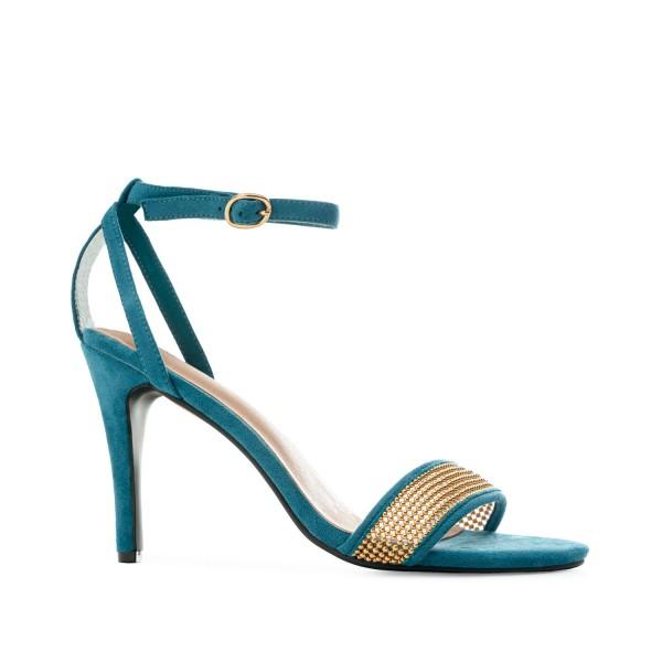 AM5508 Andres Machado blaue Stilettos Sandalen High Heels braut brautschuhe hochzeitsschuhe