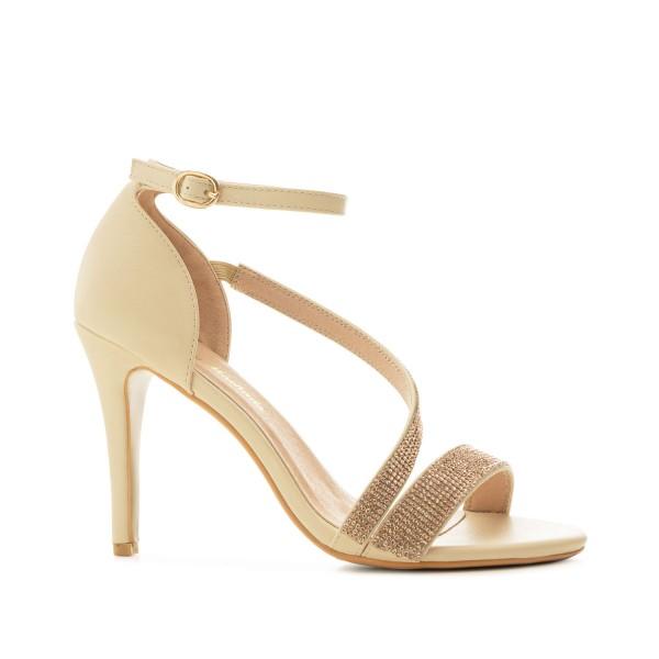 AM5487 Andres Machado beige nude Stilettos Sandalen High Heels strass Pumps brautschuhe untergrößen hochzeitsschuhe bridalshoes