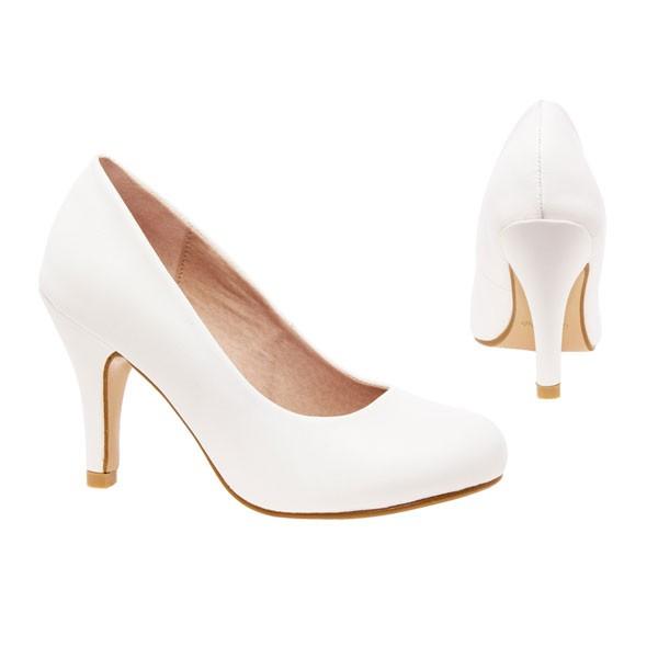 AM422 Andres Machabo Weiße Pumps Brautschuhe Hochzeitsschuhe bridalshoes weddingsshoes
