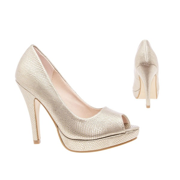 AM5003 Andres Machado gold Peep Toes Pumps High Heels Brautschuhe bridalshoes weddingshoes hochzeitsschuhe