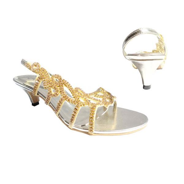 Gold Strass Sandaletten