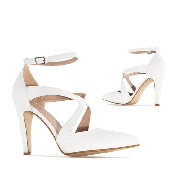 AM5194 Andres Machabo Weiße Pumps Brautschuhe High Heels Stilettos Sandalen Hochzeitsschuhe weddingshoes bridalshoes