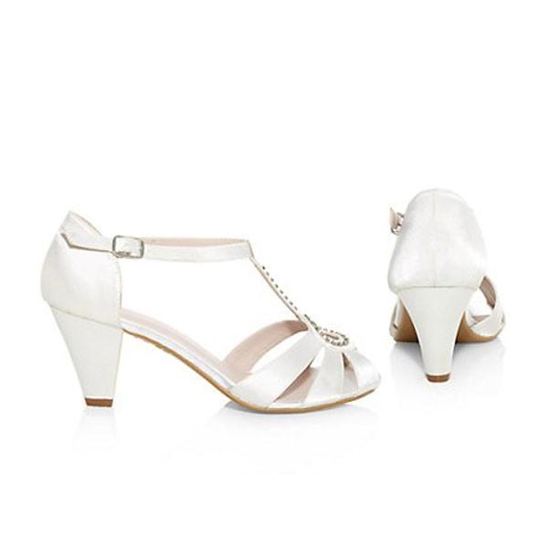 Creme Ivory Srass Sandalen Brautschuhe Hochzeitsschuhe bridalshoes weddingshoes