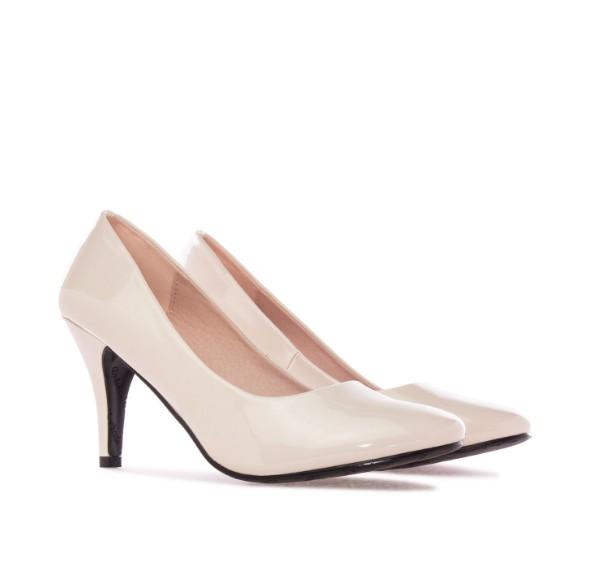 AM422 Andres Machado Beige Nude Lack Pumps Brautschuhe Hochzeitsschuhe weddingshoes bridalshoes