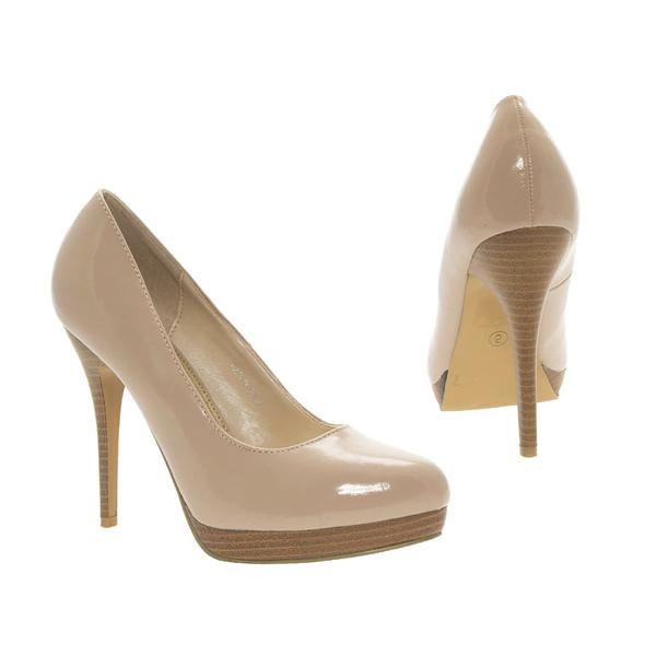 Beige Nude Lack Pumps High Heels Brautschuhe Hochzeitsschuhe weddingshoes bridalshoes smallshoes petiteshoes