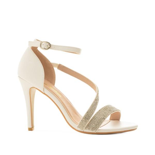 AM5487 Andres Machado Weisse Stilettos Sandalen High Heels strass Pumps brautschuhe untergrößen hochzeitsschuhe bridalshoes