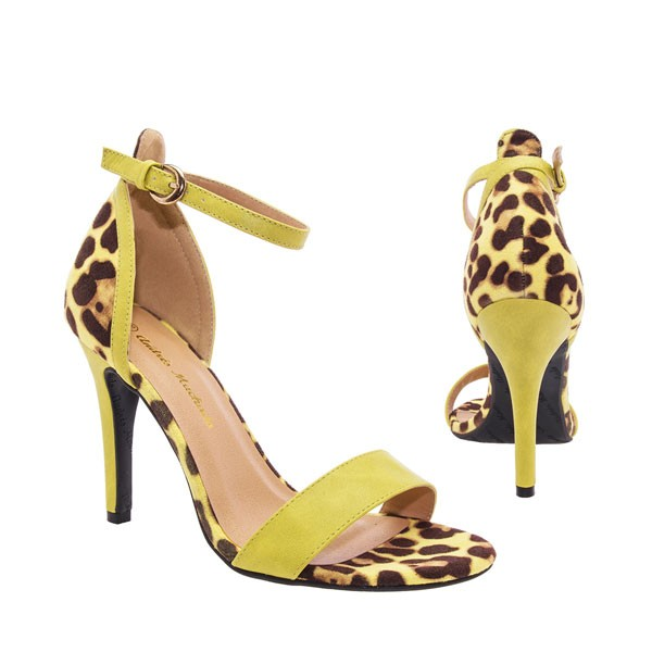 AM503 Andres Machado Leo Animalprint Stilettos Sandalen High Heels