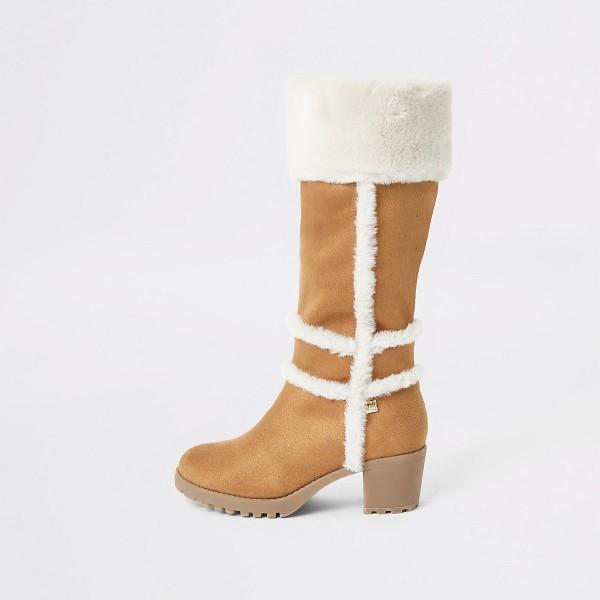 DS159 braun-stiefel-mit-blockabsatz-faux wildleder-teddy-cream-diamondshoes-untergrößen