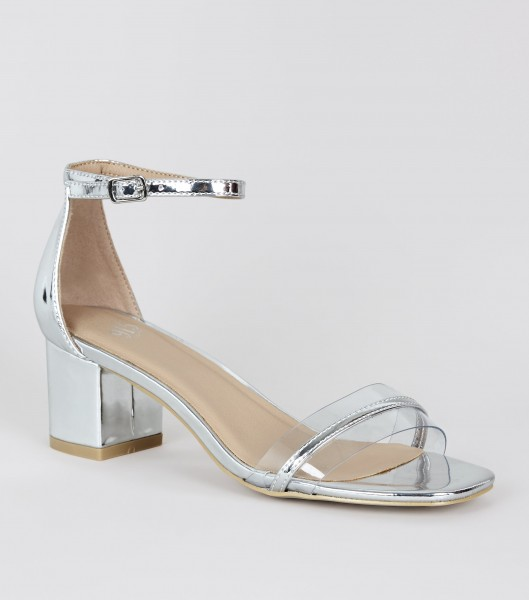 silber  Pumps Brautschuhe brdialshoes weddingshoes hochzeitsschuhe silberfarbene Lacksandalen Lacksandaletten transparenter Schuh