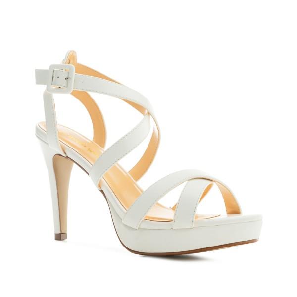 AM5485 Andres Machdo Weisse Weiss High Heels Stilettos Sandalen Brautschuhe Bridalshoes Weddingsshoes Hochzeitsschuhe