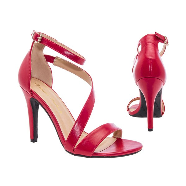 AM5036 Andres Machado Rote Stilettos Sandalen High Heels