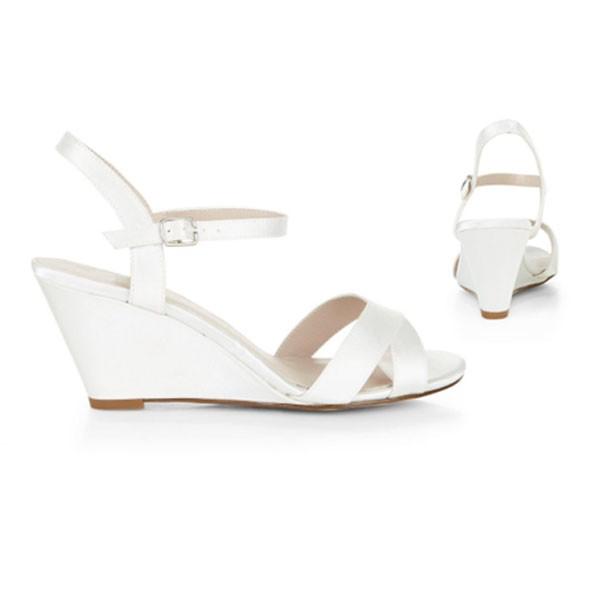Creme Ivory Satin Sandalen Sandaletten Brautschuhe Hochzeitsschuhe bridalshoes weddingshoes