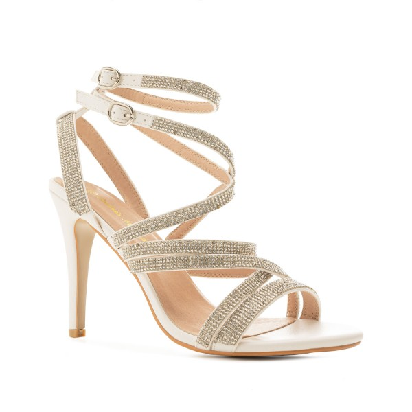 AM5483 Andres Machado Strass High Heels Untergrößen Brautschuhe Hochzeitsschuhe Sandalen Stilettos