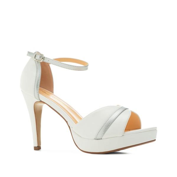 AM5490 Andres Machado Weisse Stilettos Sandalen High Heels strass Pumps brautschuhe untergrößen hochzeitsschuhe bridalshoes Braut