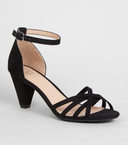 DS152 schwarze-high-heels-mit-riemchen-faux-wildleder diamond shoes untergröße