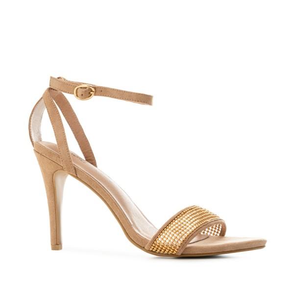 AM5508 Andres Machado beige Stilettos Sandalen High Heels braut brautschuhe hochzeitsschuhe