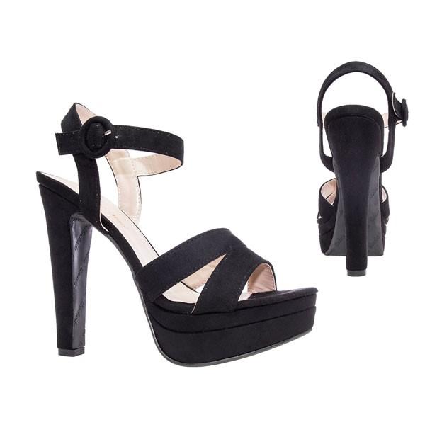 AM5070 Andres Machado Schwarze High Heels Sandalen Stilettos Sandaletten Diamondshoes Damenschuhe Untergrößen