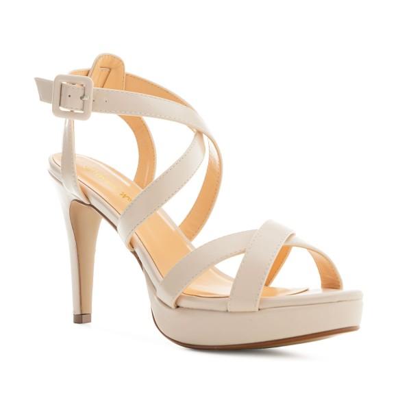 AM5485 Andres Machdo Beige Nude High Heels Stilettos Sandalen Brautschuhe Bridalshoes Weddingsshoes Hochzeitsschuhe