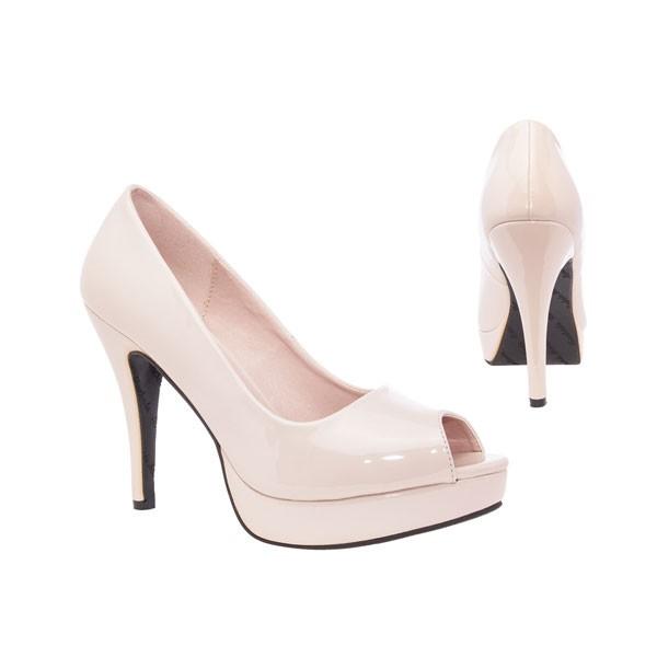 AM5003 Andres Machado Beige Nude Lack Peep Toes Pumps High Heels Brautschuhe bridalshoes weddingshoes hochzeitsschuhe