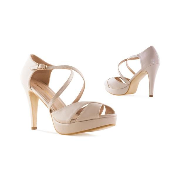 AM5336 Andres Machdo Beige Nude High Heels Stilettos Sandalen Brautschuhe Bridalshoes Weddingsshoes Hochzeitsschuhe